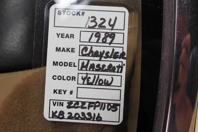 1989 Chrysler LEBARON MASERATI