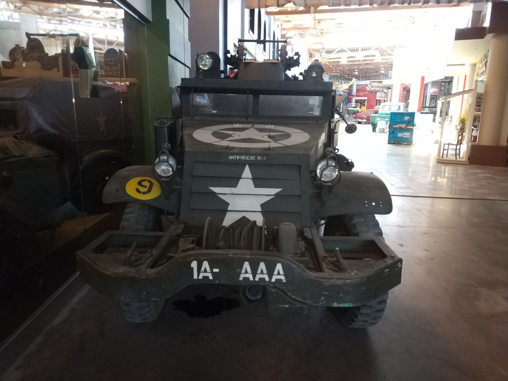 1944 white m16 armed motor carriage