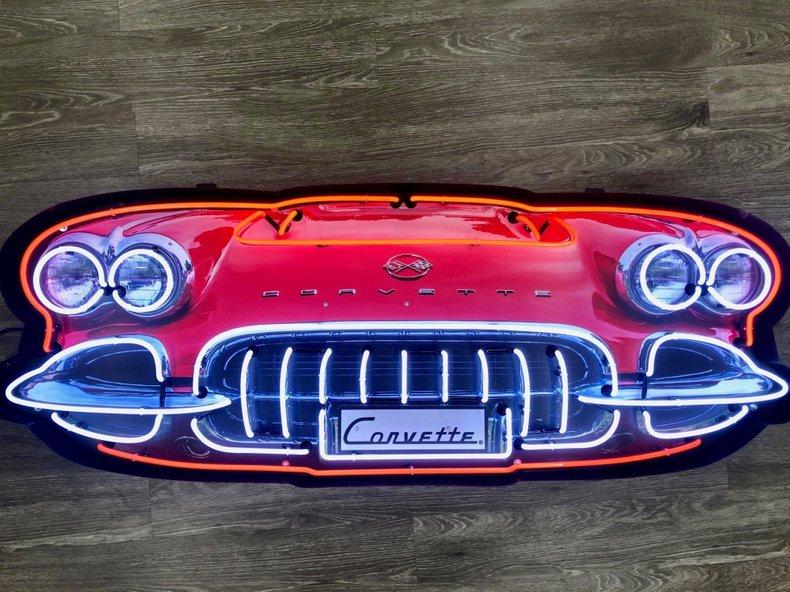 Corvette Grill Neon Sign