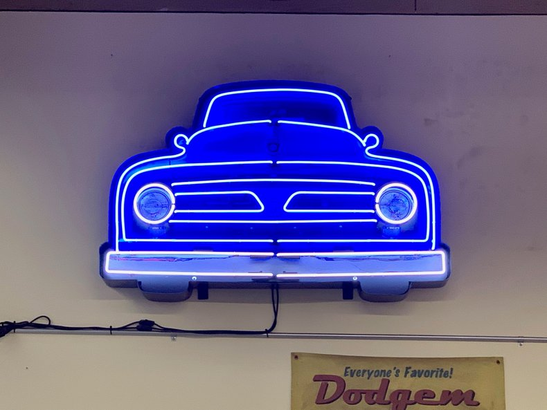 Ford V8 Truck Grill Neon Sign