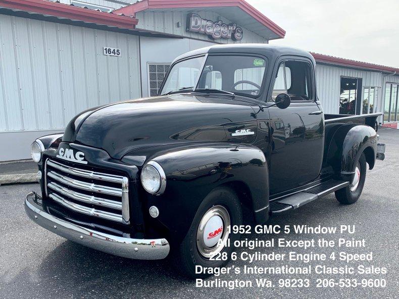 1952 GMC 150 5 Window 1/2 Ton PickUp