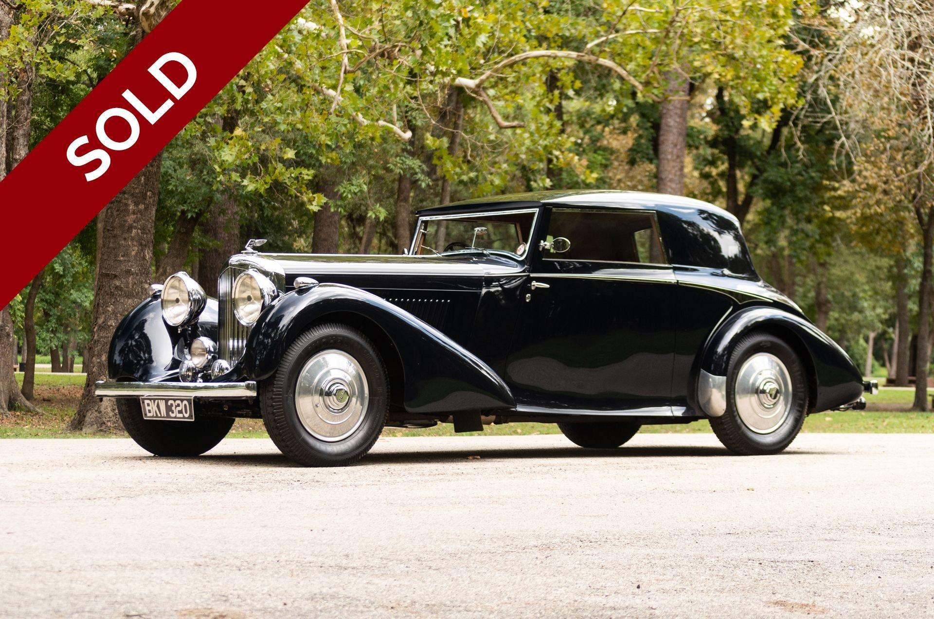 Sold 1937 bentley 4 25 litre fhc
