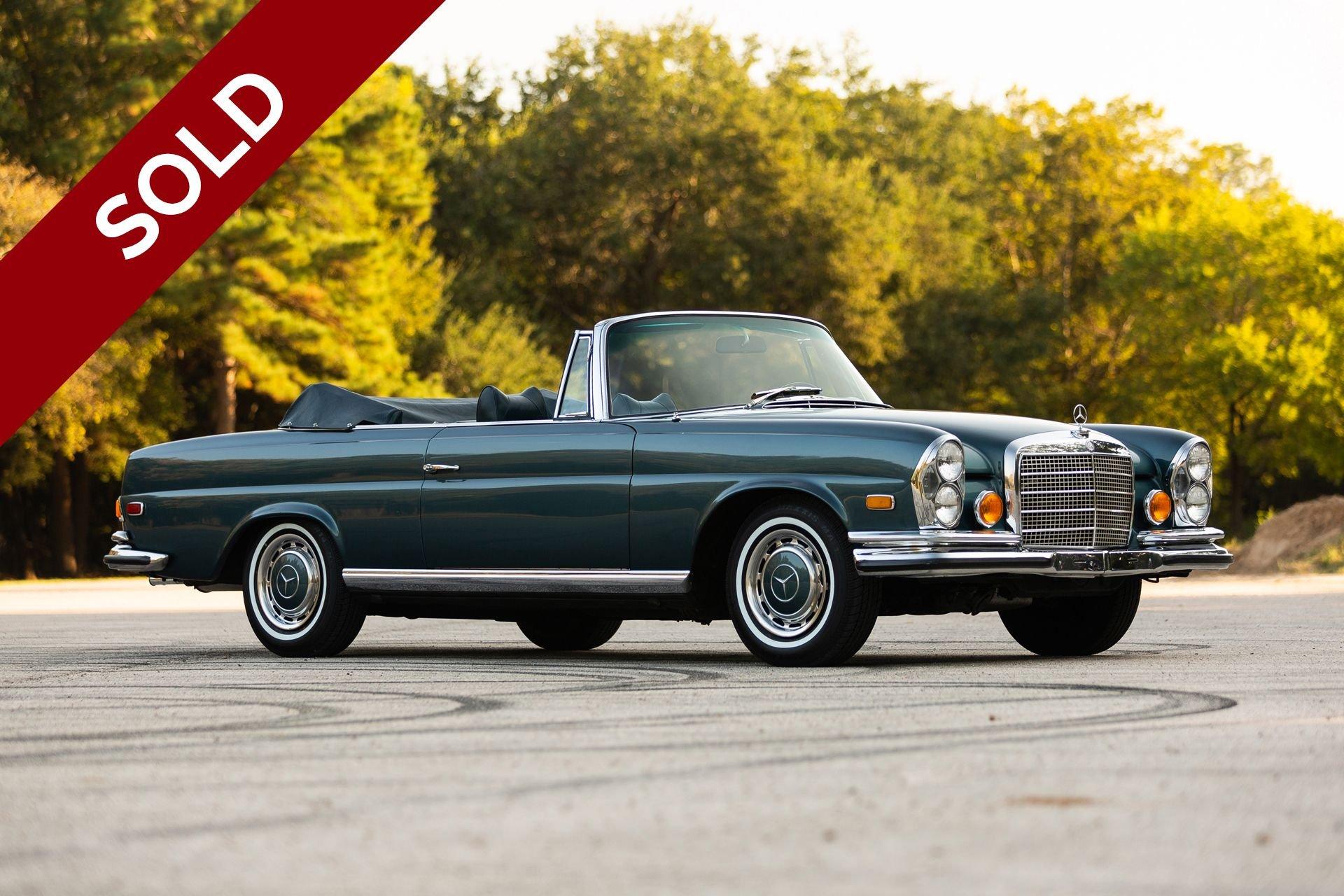 Sold 1971 mercedes benz 280se 3 5