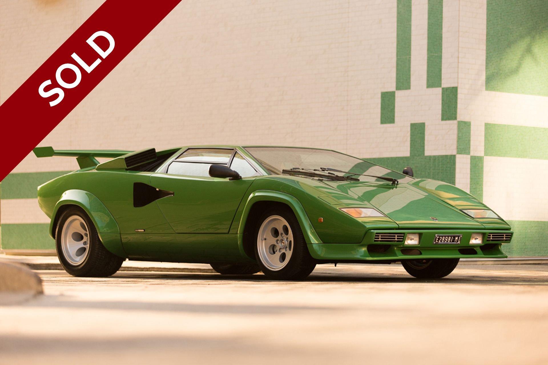Sold 1981 lamborghini countach lp400 s