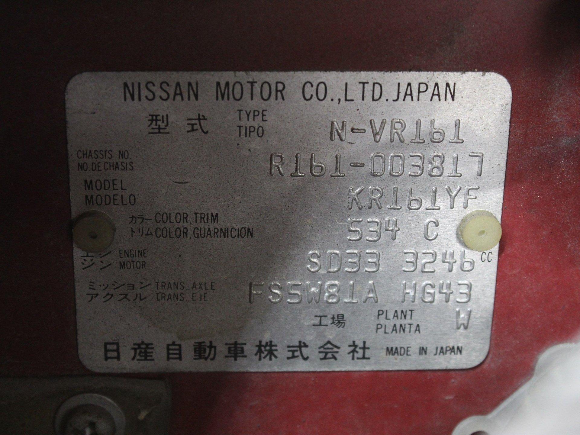 1986 Nissan Safari