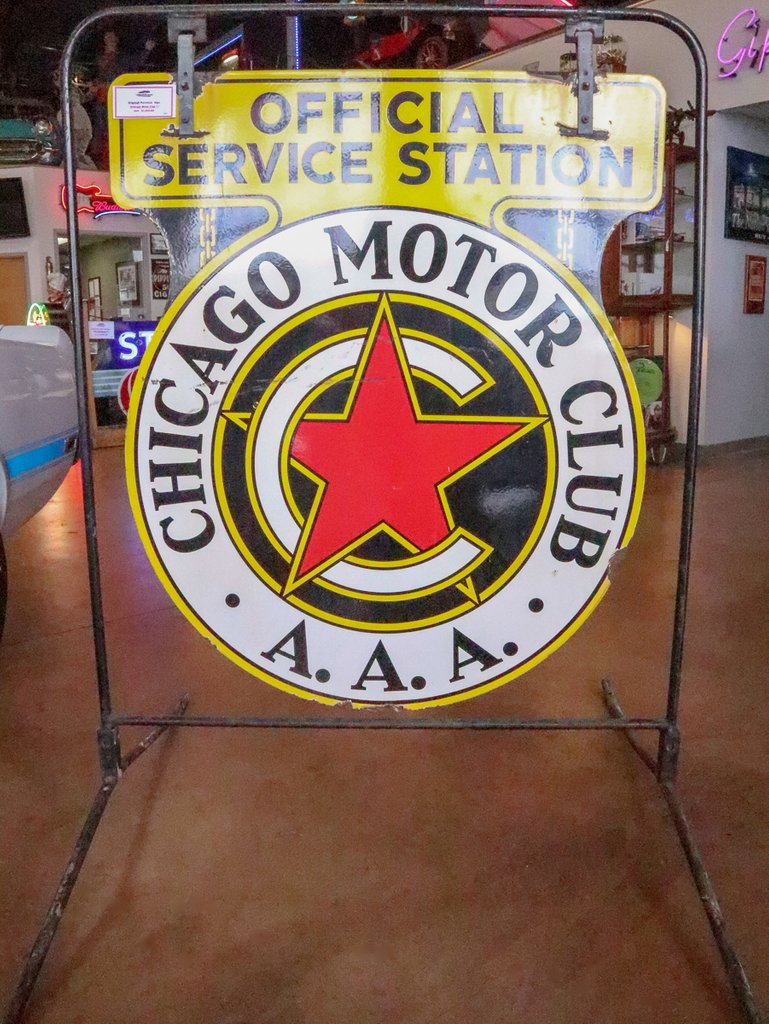 Chicago Motor Club AAA Metal Sign