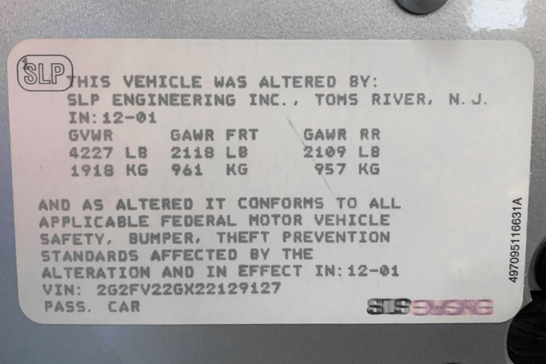 2002 Pontiac Firehawk