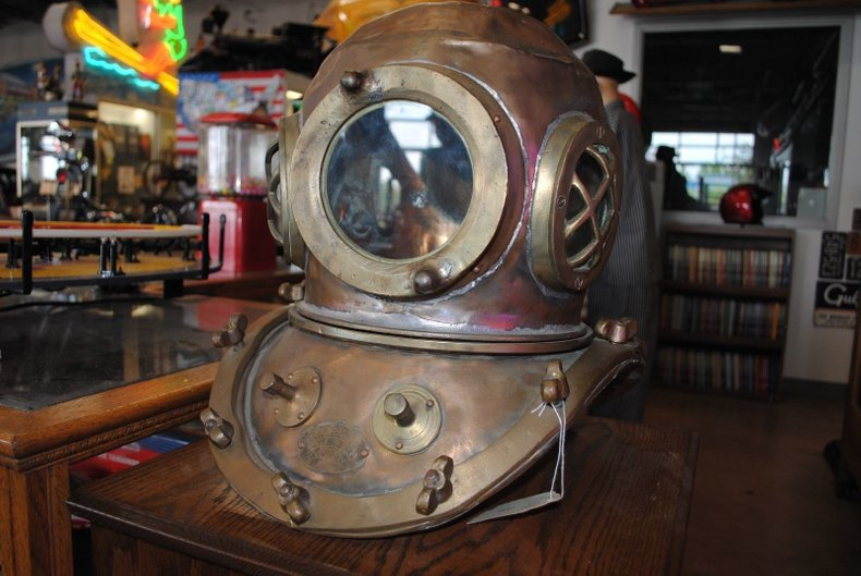 Vintage Korean Deep Sea Diving Helmet!