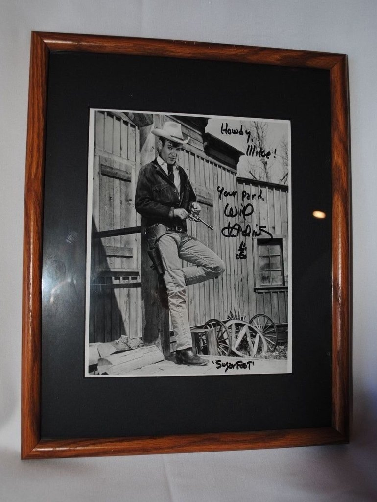 "Signed by ""Sugarfoot"" star Will Hutchins!"