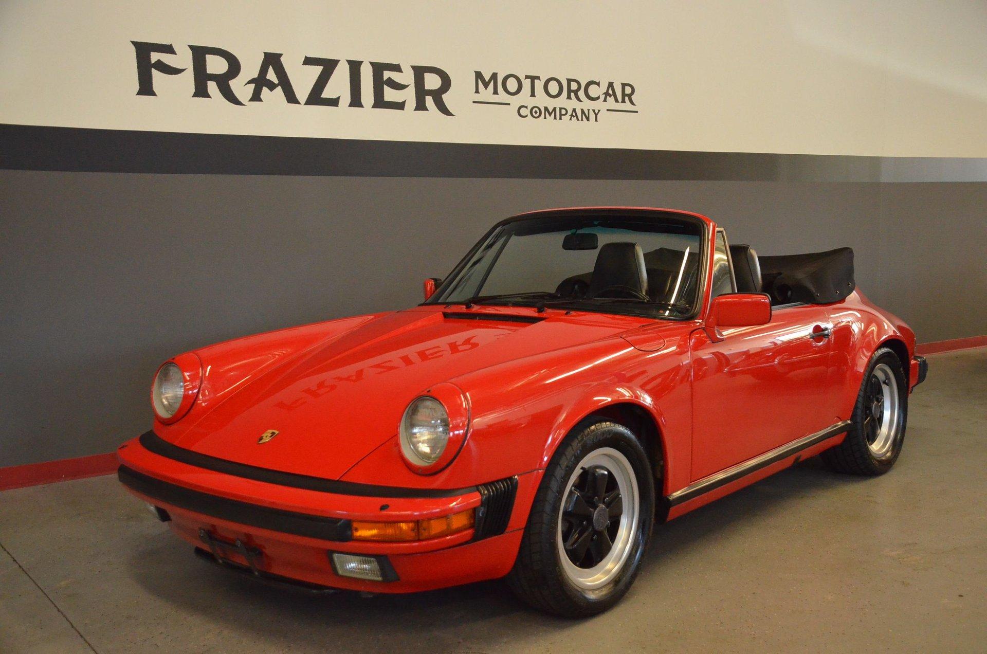 1986 porsche 911 carrera cabriolet
