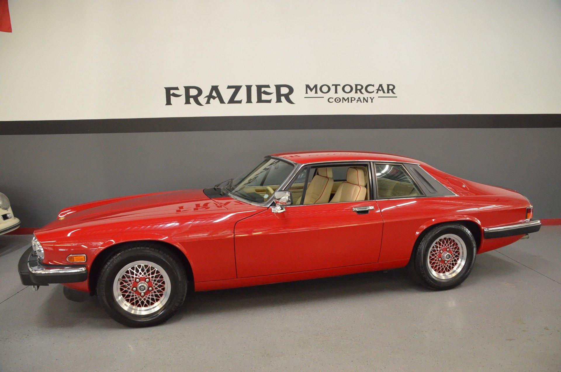 1989 jaguar xjs coupe rouge