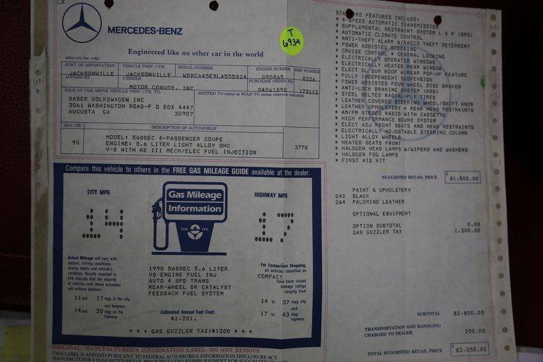 1990 Mercedes-Benz 560