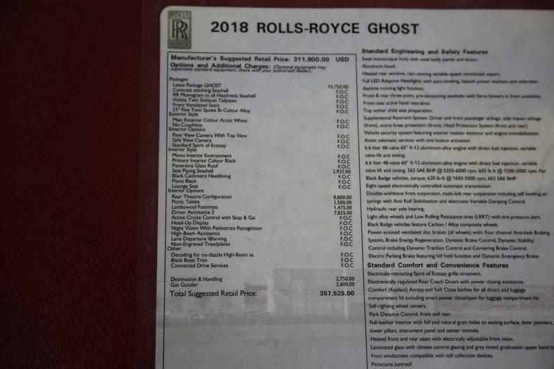 2018 Rolls-Royce Ghost