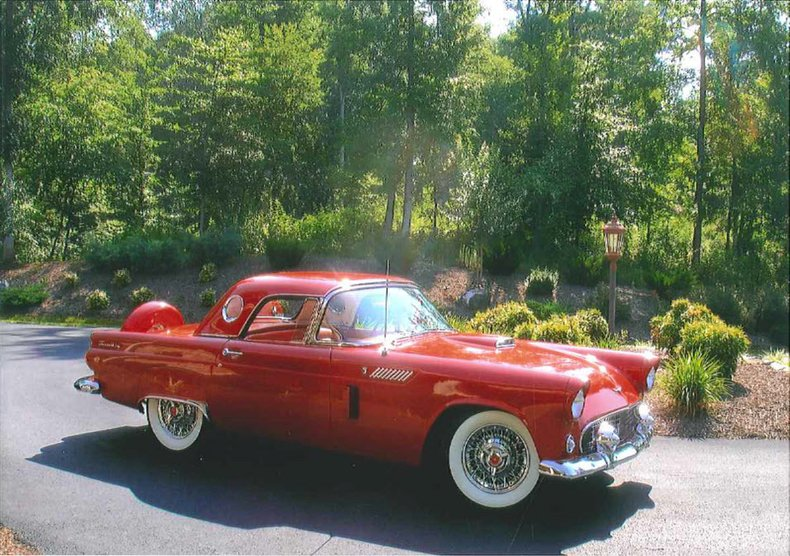 1956 ford thunderbird sold by amos minter
