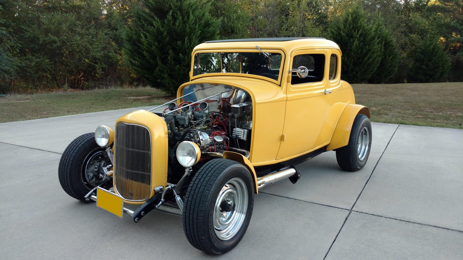 1932 ford 5 window coupe american graffiti movie tribute