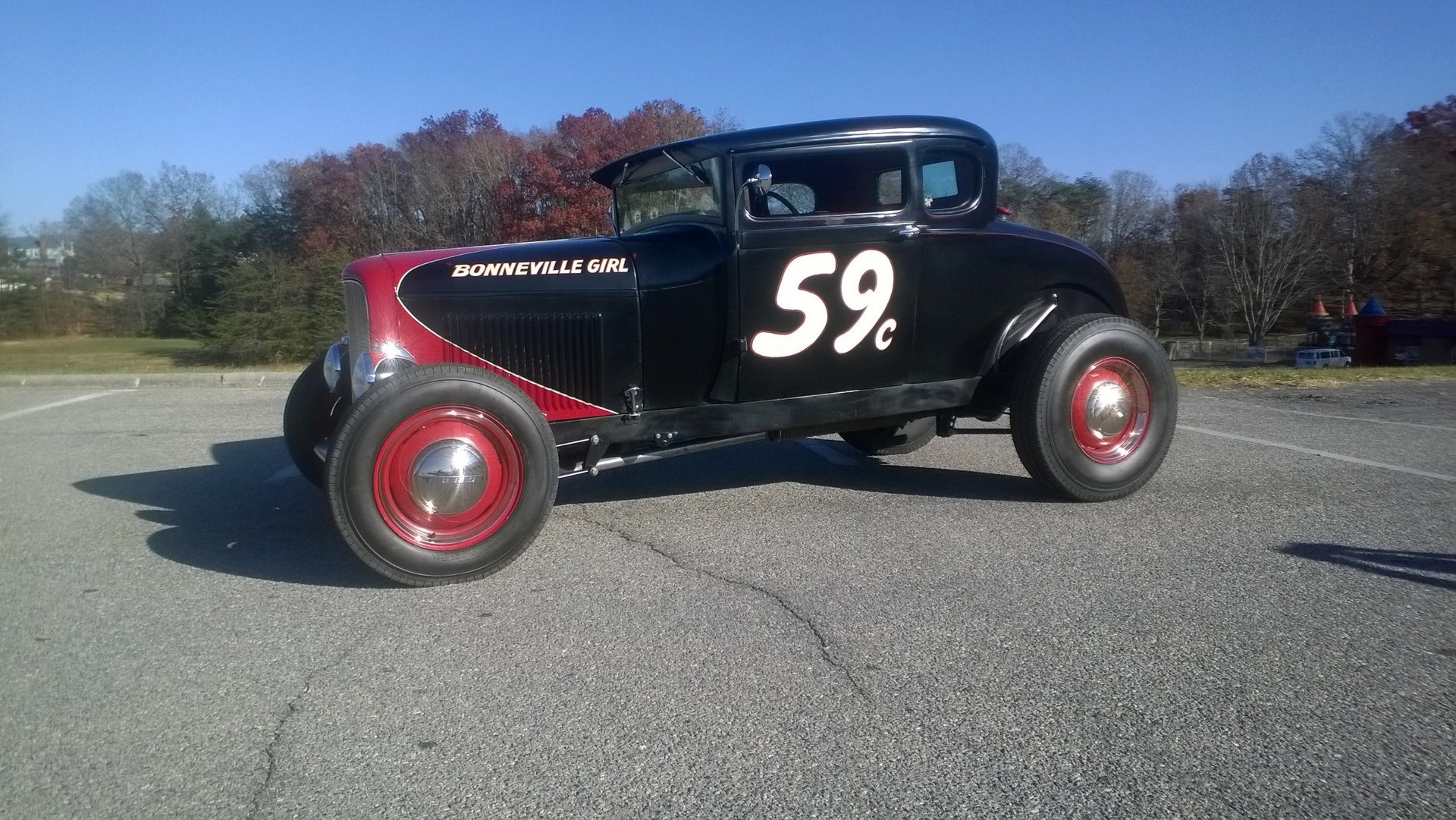 1929 ford a period hot rod 5 window coupe
