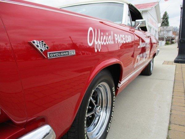 1966 mercury cyclone gt indy pace car