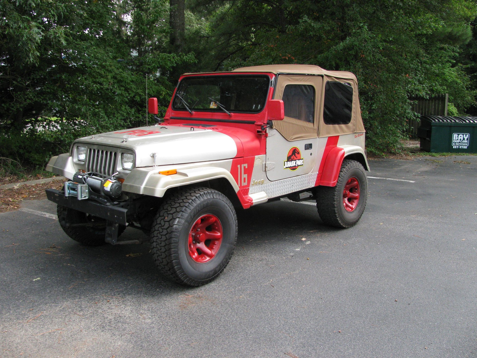 1995 jeep wrangler rio grande jurassic park