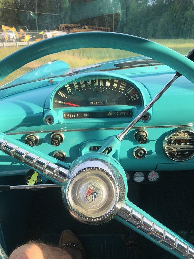 1955 ford fairlane 2 door post