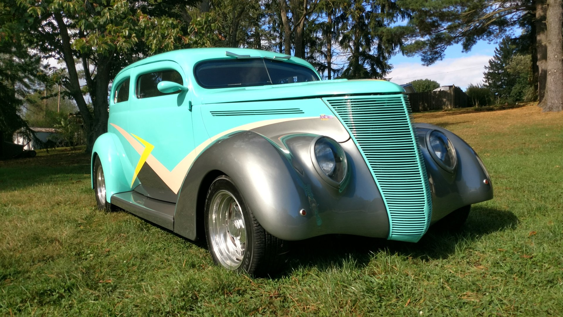 1937 ford split window sedan