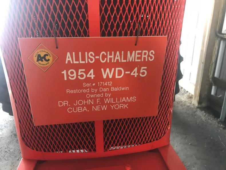 1954 allis chalmers wd 45