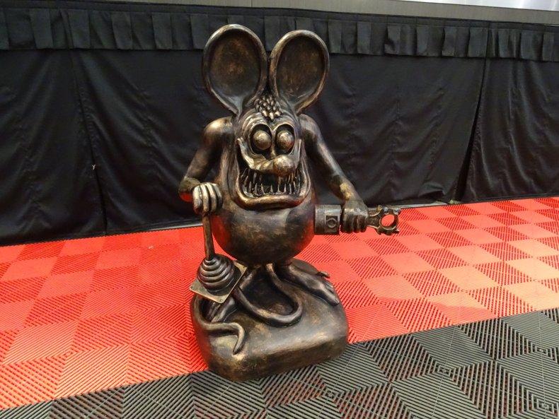 Bronze Color Rat Fink Statue