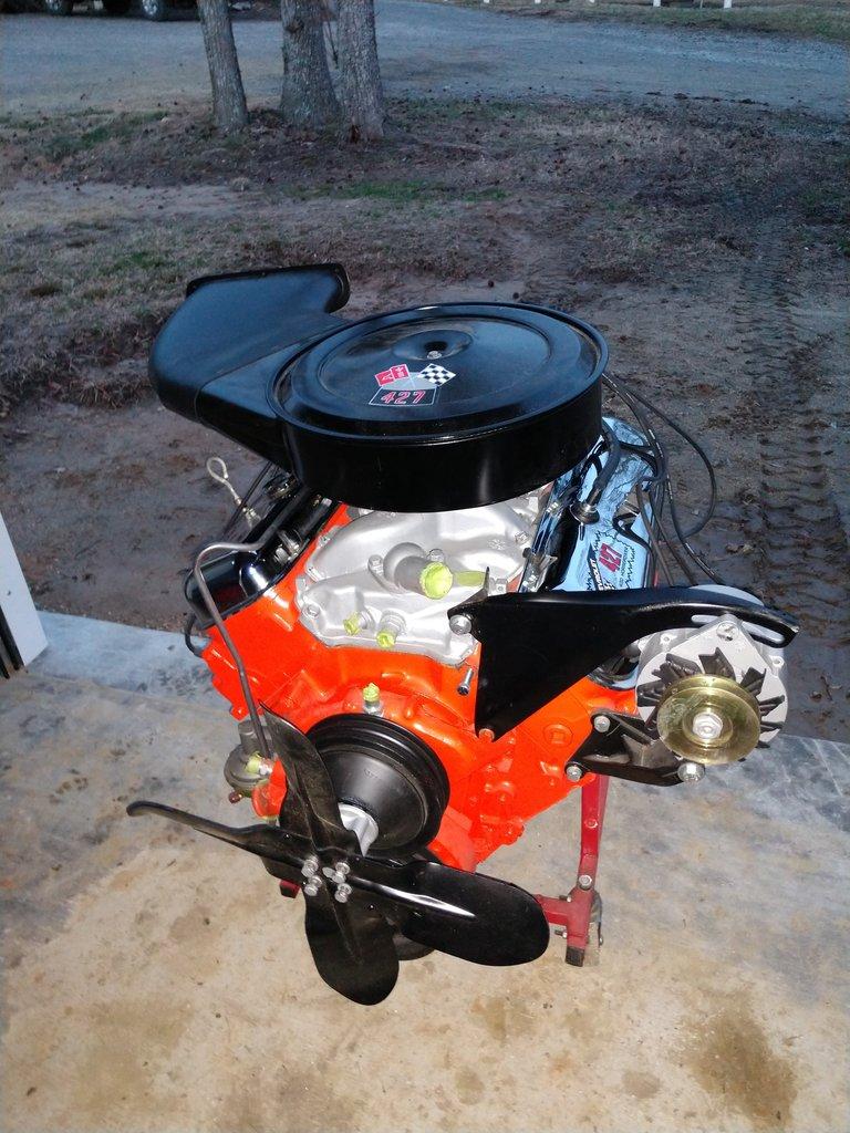 1966 Smokey Yunick 427 Engine with Cowl Plenum