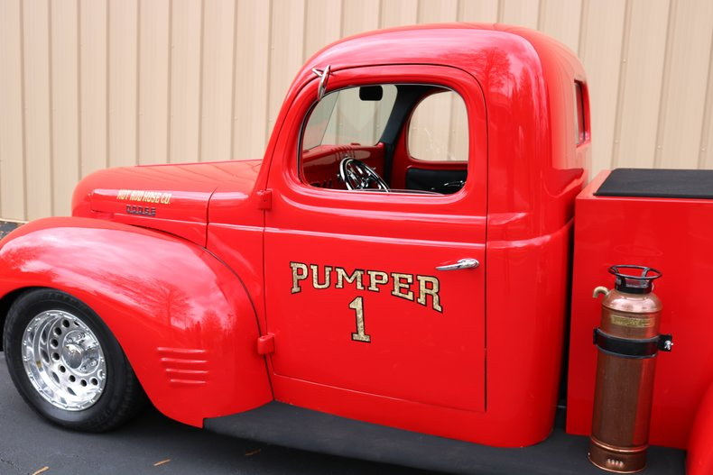 1940 dodge custom fire truck
