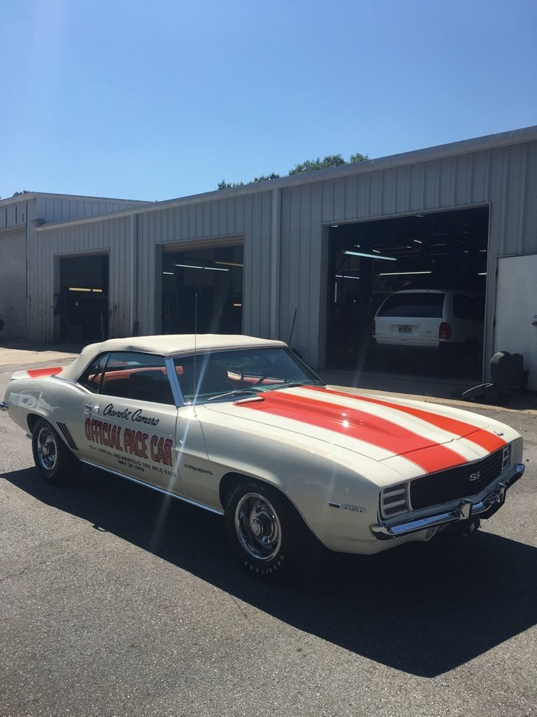 1969 chevrolet camaro rs ss pace car