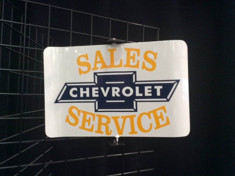 Chevrolet Sales and Service Spinner Sign