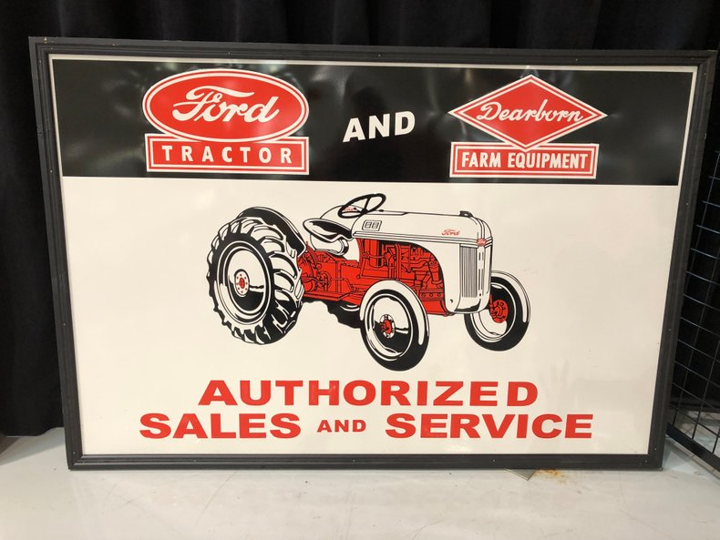 Ford Tractor & Dearborn Farm Equipment Sign
