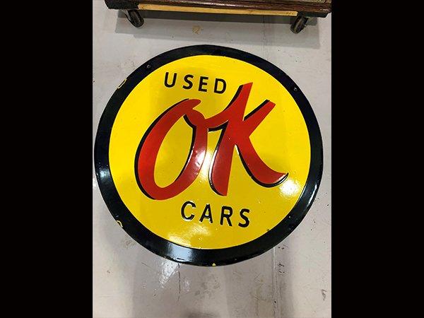 OK Porcelain Sign