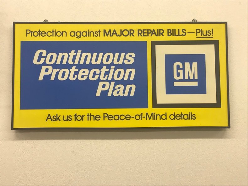 GM Protection Plan Sign