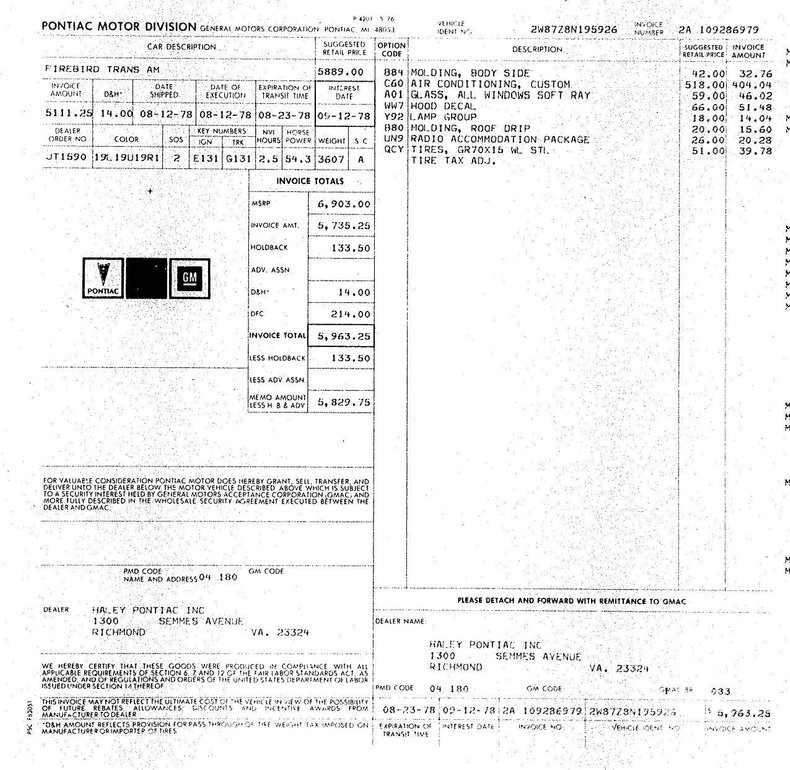 1978 Pontiac Firebird 13