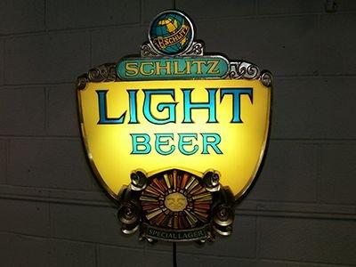 1970s Schlitz Light Beer Lighted Sign