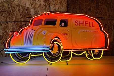 Shell Tanker Neon Sign 48 x 28in.