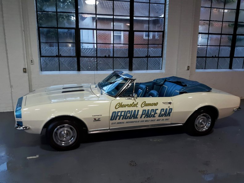 1967 chevrolet camaro ss rs pace car