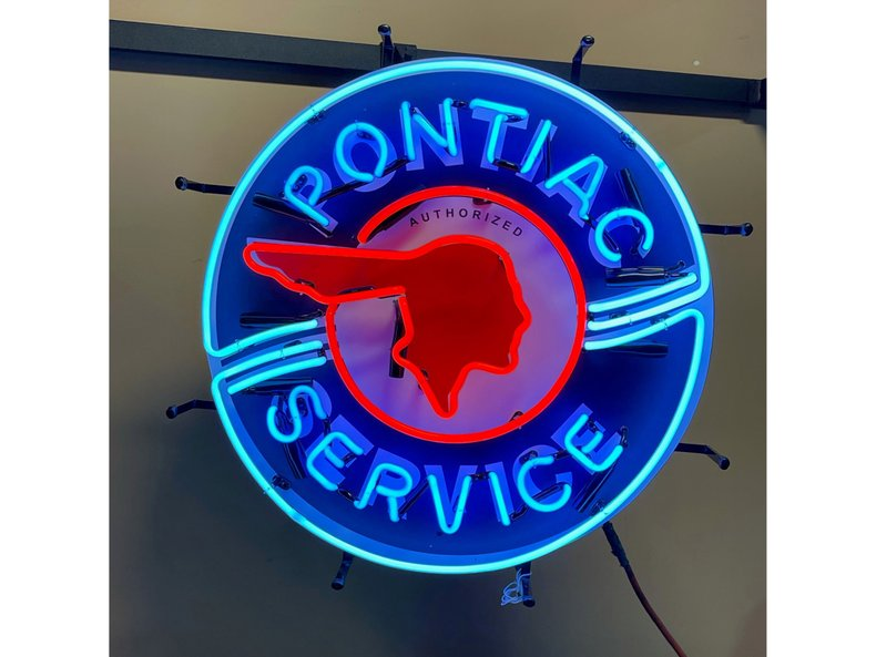 "24"" Pontiac Service Neon Sign"