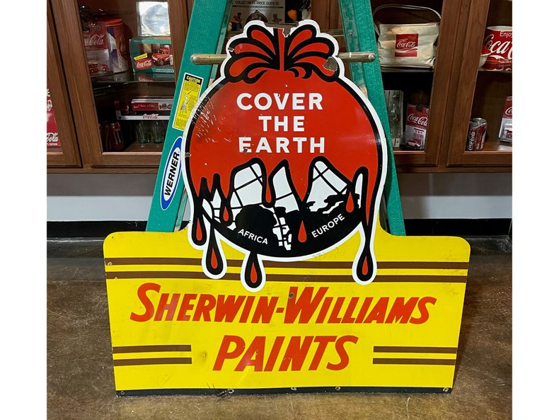 Sherwin Williams Double Sided Porcelain Sign