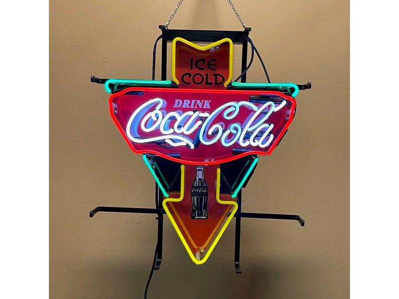 Coca Cola Neon Arrow