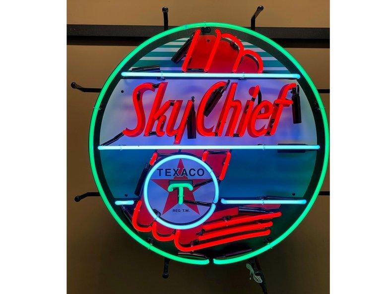 "24"" Texaco Sky Chief Neon"