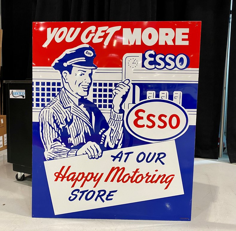 """You Get More"" ESSO Sign"