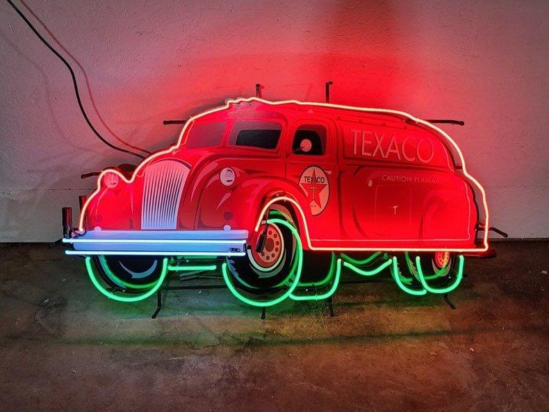Texaco Tanker Neon Sign