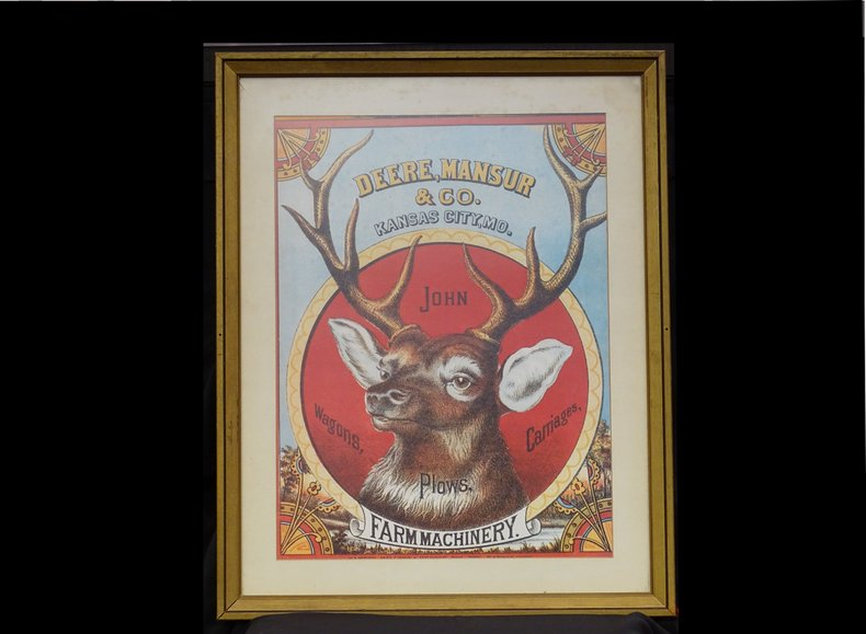 Deere Mansur & Co. Farm Machinery Poster