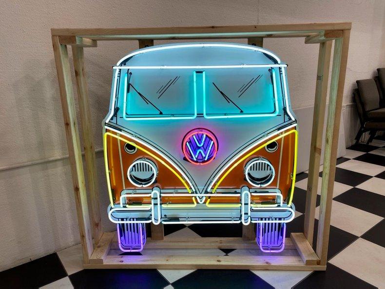 VW Bus Flashing Neon Sign
