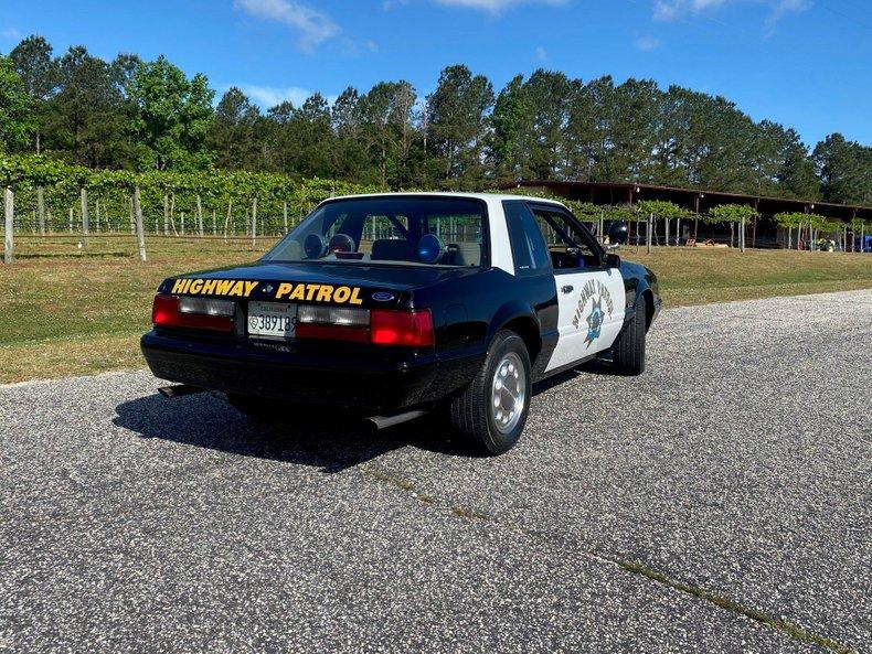 1992 ford mustang chp training car