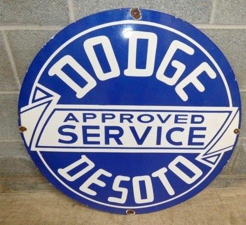 Porcelain 30in Dodge Sign