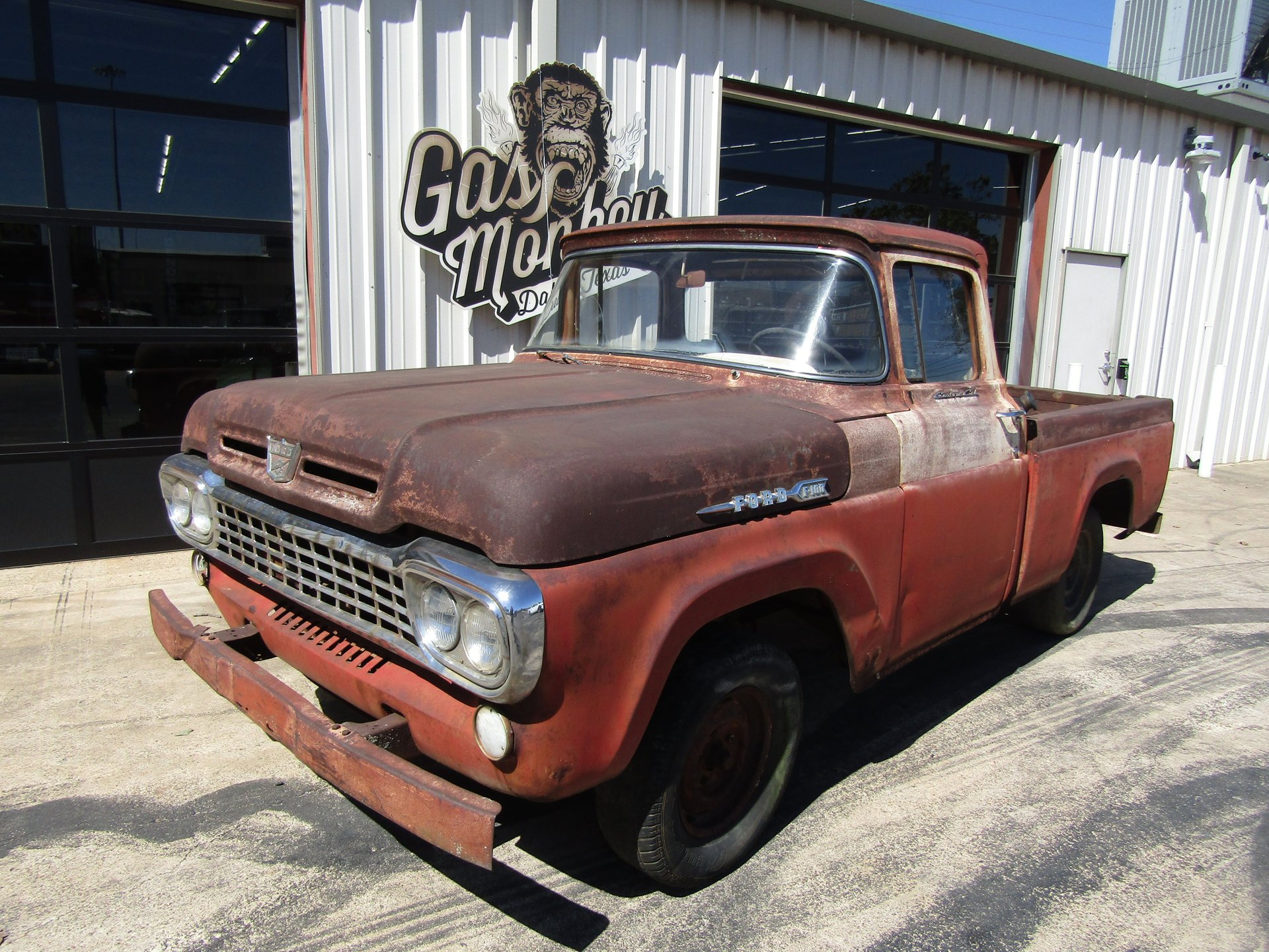 1958 ford f100 big window custom cab
