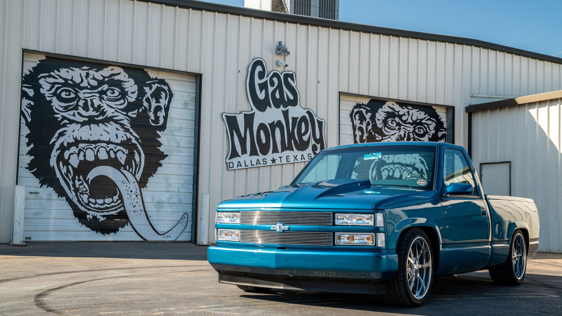 1991 chevrolet silverado swb ls powered built by gas monkey garage in 5 days