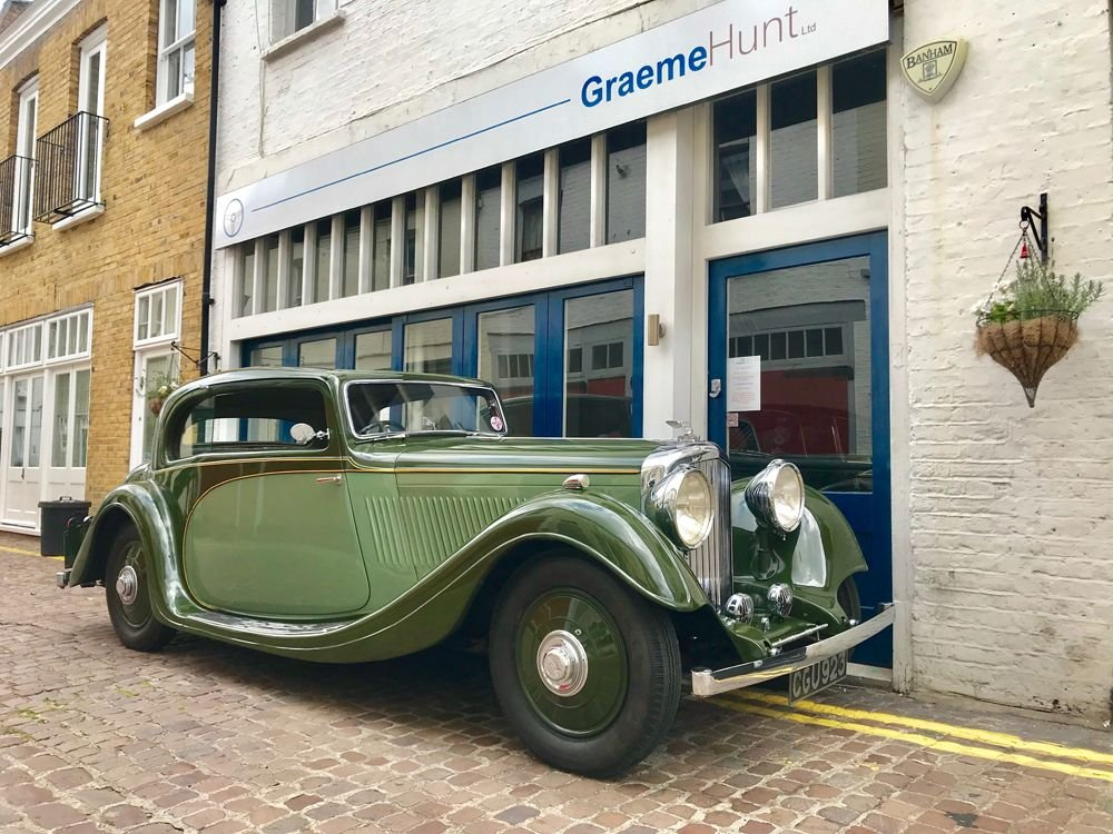 1935 bentley 3 1 2 litre sports saloon pillarless coupe by gurney nuttings